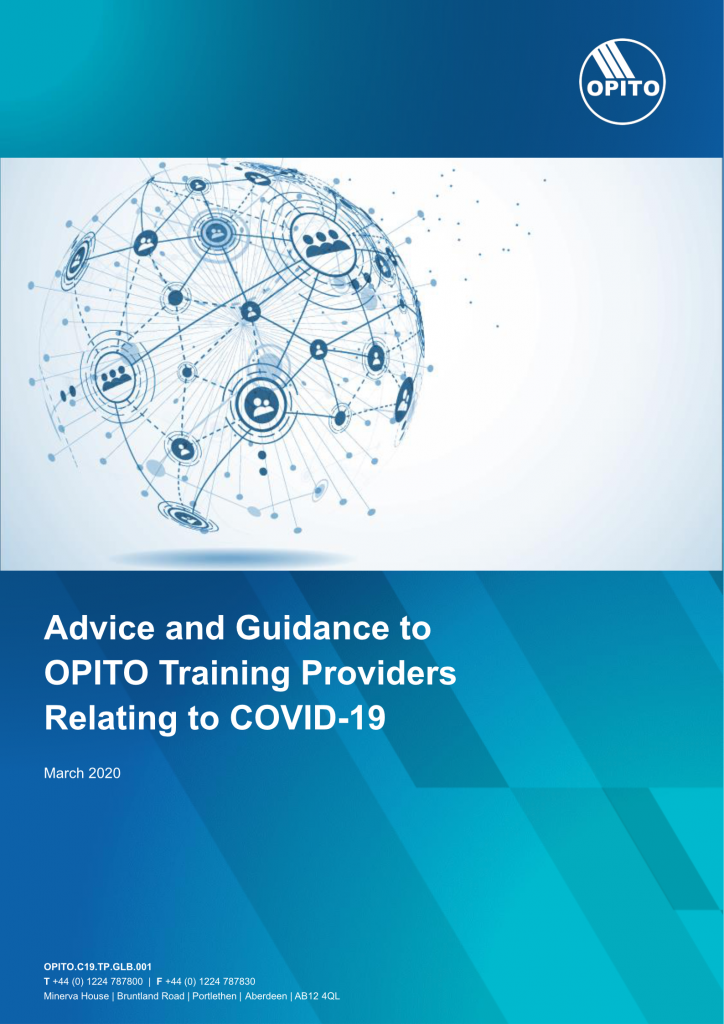 Advice & Guidance to OPITO Training Providers Relating to COVID-19